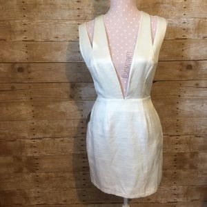 Nasty gal white plunge dress